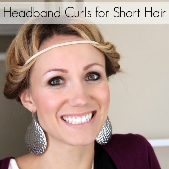 Headband Curls can work for short hair too- How To Make Them Work For You!