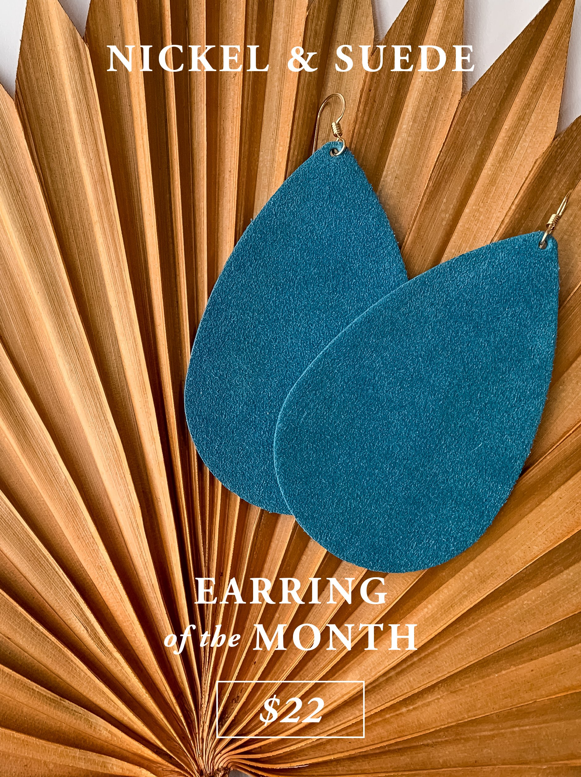 Nickel & Suede Earring of the Month